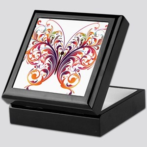 Scroll Butterfly Keepsake Box